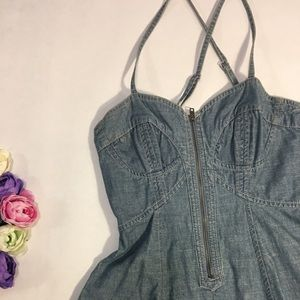 French Connection Dresses - French Connection blue denim mini dress size 2